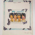 Anna Bella Geiger, Burocracia, Guache e nanquim sobre papel, 25,5 x 20 cm, 1975.