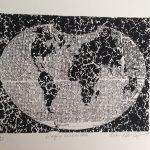 Anna Bella Geiger, O Espaço Social da arte, Gravura em metal, 50 x 70 cm, 1977, Tiragem 10/25.