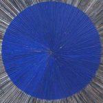Marcos Coelho Benjamim Quadrado Azul Zinco Oxidado pintado em Azul 80 x 80 cm.