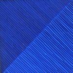Marcos Coelho Benjamim Quadrado Azul Zinco Oxidado pintado em Azul 50 x 50 cm.