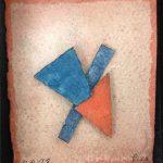 Arthur Luiz Piza, AP 92, Aquarela em papel Tourchon e colagem, 9,5 x 8,5 cm