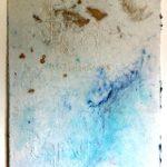 Hilal Sami Hilal, Sem Título, Papel de fibra de algodão feito a mão, pigmentos e inscrições em relevo, 90 x 70 cm, 2012.