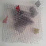 Arthur Luiz Piza, T – 960, Arame galvanizado e zinco pintado em acrílica, 55 x 50 x 16 cm
