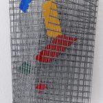 Arthur Luiz Piza, T – 999, Arame galvanizado e zinco pintado em acrílica, 25 x 20 x 10 cm