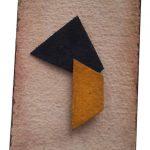 Arthur Luiz Piza, BP7, Aquarela e colagem, 11 x 7 cm