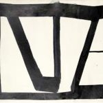 Amilcar de Castro Sem Título Óleo sobre Cartão 48 x 66 cm.