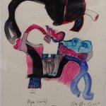 Anna Bella Geiger, Órgão Ocidental, Guache e nanquim sobre papel, 33 x 23 cm, 1966.