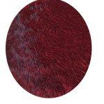 Marcos Coelho Benjamim, Roda Vermelha, Zinco oxidado pintado em Vermelho, 120 cm de diâmetro.