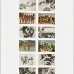 Anna Bella Geiger, Brasil Nativo – Brasil Alienígena, Fotografia – 18 Cartões postais, 138 x 48 cm, 1977.