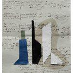 Júlio Villani, Cheminee, Óleo sobre documentos Cartoriais, 25 x 18 cm, 2016