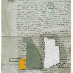 Júlio Villani,, Nature, Óleo sobre documentos Cartoriais, 24 x 18 cm, 2016