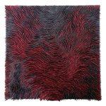 Marcos Coelho Benjamim, Quadrado, Zinco oxidado pintado em Preto e Vermelho, 80 x 80 cm.