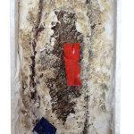 Arthur Piza, T – 1004, Arame galvanizado, zinco pintado em acrílica, massa corrida e madeira pintada, 13 x 8 x 4,5 cm