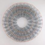 Copa, Aço Inox, plástico e Arame, 112 x 112 x 15 cm, 2014.