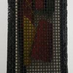 Arthur Luiz Piza, T - 1439-Arame galvanizado pintado e madeira pintada, 3,8x9x4 cm