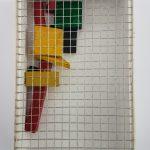 Arthhur Luiz Piza, T-1631-Arame galvanizado e madeira pintada, 3,5x10x15cm