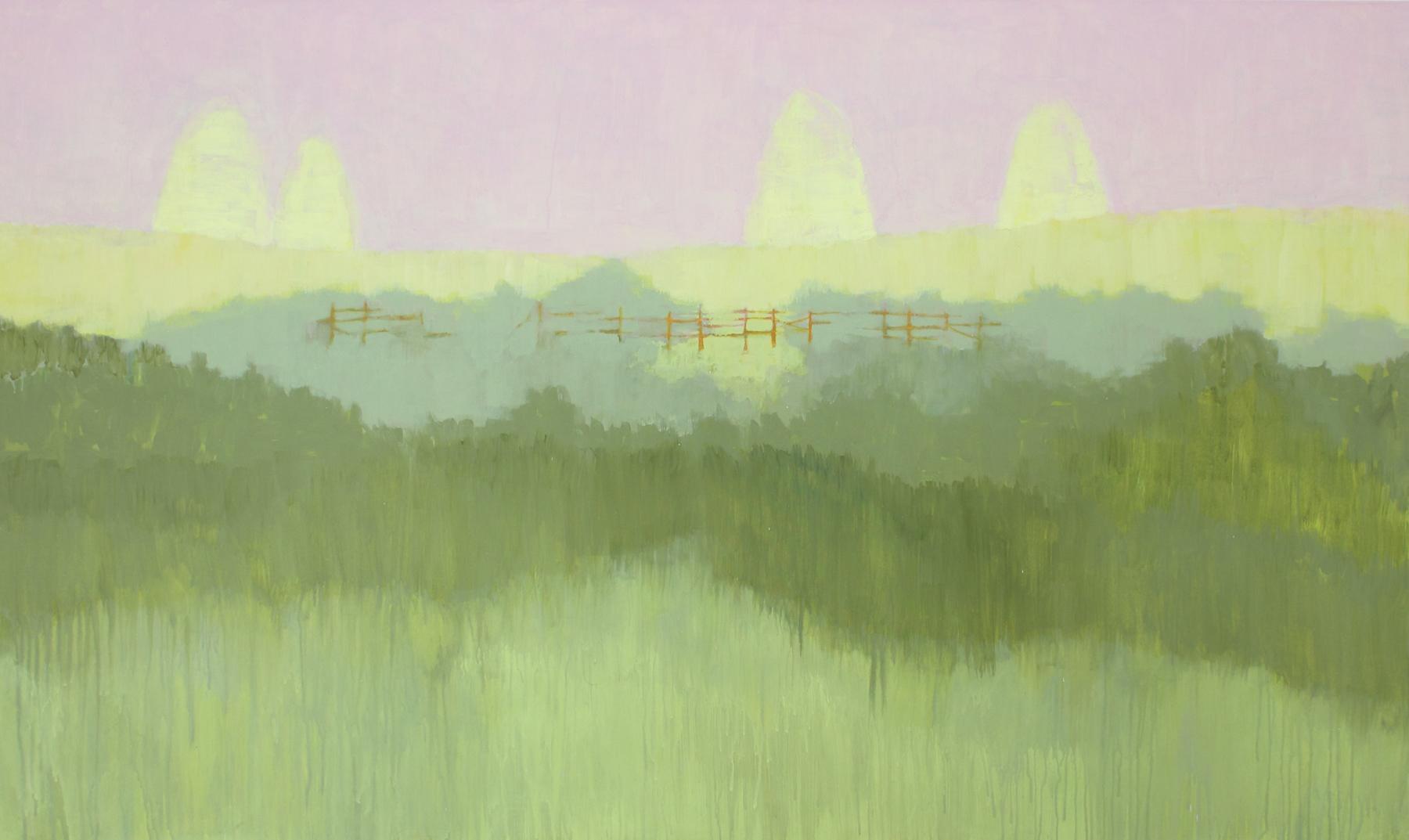 Felipe Goes, Pintura 186, Acrilica e guache sobre tela, 100 x 170 cm, 2013.