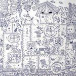 Rodrigo Godá, Máquina que produz Floresta IV, Acrílica sobre tela, 80 x 90 cm.