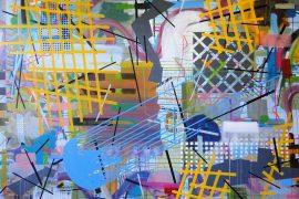 Heleno Bernardi, Sem Título, Acrílica sobre tela, 150 x 200 cm, 2016.