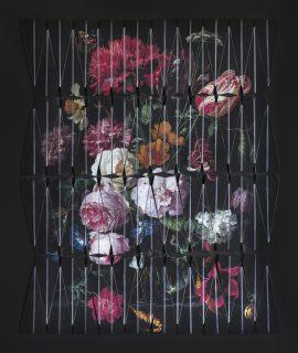 Natureza Bela, Morta e do Lar IIA - Homenagem a Jan Davidsz de Heem, Impressão sobre papel dobrado em formato de avião, 136 x 160 cm