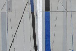 Júlio Villani, Jazz, Acrílica, carvão e caulim sobre tela, 130 x 186 cm, 2015