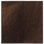 Marcos Coelho Benjamim, Quadrado, zinco oxidado e enferrujado, 50 x 50 cm, 2004