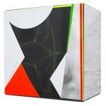Isabelle Borges, Fold 09.10.16, Papel, impressão digital, madeira 10 X 10 cm, 2016