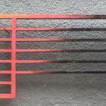 Christian Henkel, BH IV, Metal, 105 x 254 cm, 2018