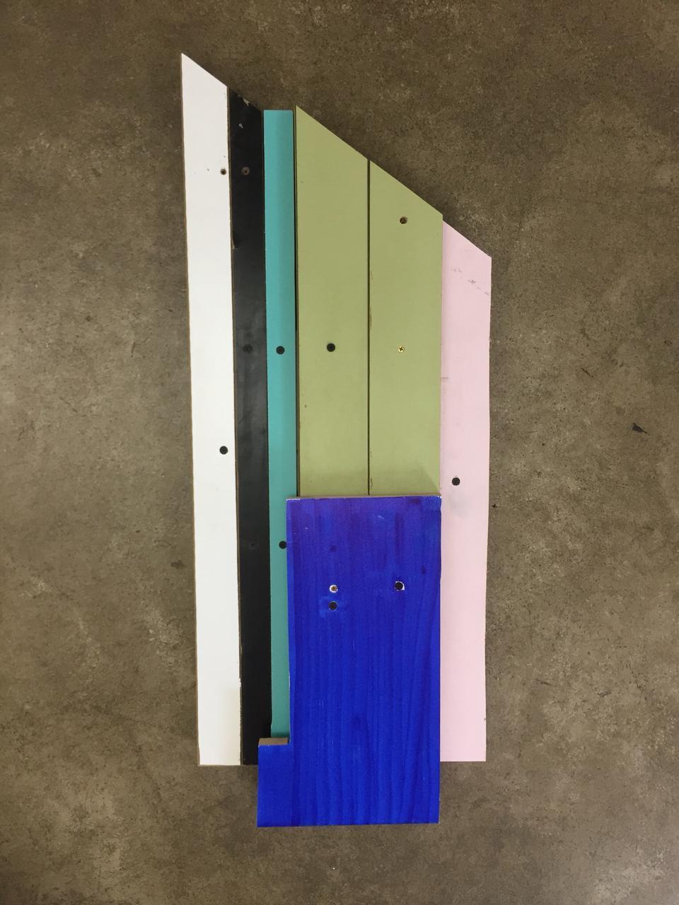 Christian Henkel, BH VI, Madeira, 38 x 78 cm, 2018