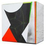 Isabelle Borges, Fold 09.10.16, papel, impressão digital, madeira, 10 X 10 cm, 2016