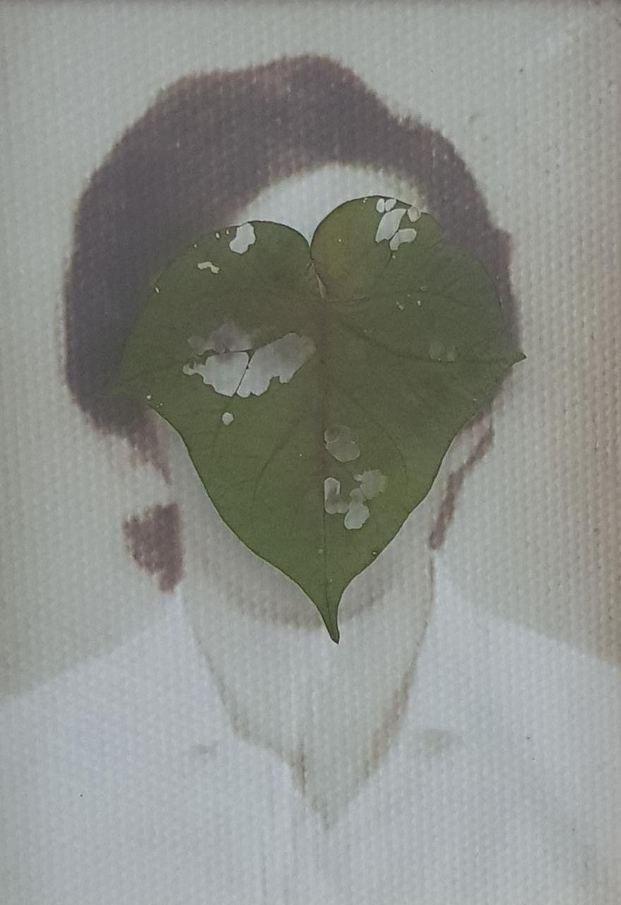 'Christus Nobrega, Folha de Rosto, impressão e folha prensada sobre vidro, 29 x 20 cm