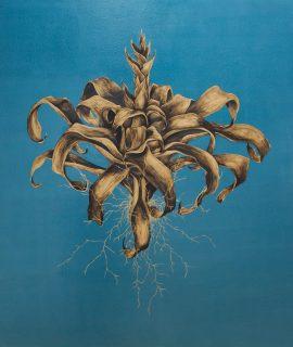 Vitor Mizael, Sem Título, Acrílica sobre tela, 150 x 150 cm, 2018.