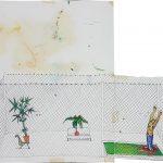 Daniel Murgel, Os dias de passeio no jardim, Aquarela e caneta bic, 65 x 74 cm