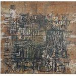 Fernando Lucchesi, Paisagem em linhas, Técnica mista, 80 x 80 cm, 1992
