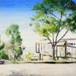 Escola Guignard Aquarela s/ cartão 24 x 54 cm, 2002.
