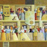 Pausa para o Café Acrílica s/ tela 27 x 35 cm.