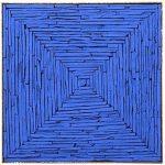 Marcos Coelho Benjamim Caixa de Pedras Azuis Pedra pintada 34 x 34 x 7 cm.