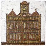 Fernando Lucchesi Objeto Cozinha de Calder (obra reproduzida no catálogo do X Salão) Objeto em madeira pintada e montagem 100 x 100 cm, 2003.