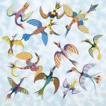 Pássaros Óleo s/ tela 120 x 120 cm, 2000.