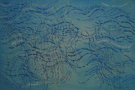 Série Mares, Desenho e pintura sobre tela, 100 x 150 cm, 2013.