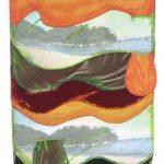 Leda Catunda Prainha AST e tecido 132 x 89 cm, 2002
