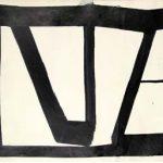 Amilcar de Castro Abstrato Óleo sobre cartão 48 x 66 cm, sem data
