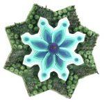 Edmilson Nunes Tudo São Flores Objeto em técnica mista – velas, pregos, papel, miçangas, acrílica s/tela recor 33 cm diâmetro, 2004-2005