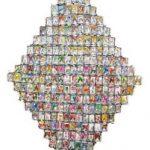 Marcos Cardoso Semtítulo Objeto de parede – rótulos de embalagens recortados, costurados, recheados e acolchoados com 250 x 160 cm – s/ chassis, 2002