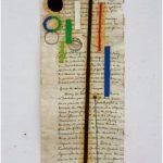 Julio Villani Marguerite vertical Óleo sobre papel 44 x 19 cm, 2007