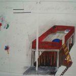 Daniel Murgel Churrasco na lage Desenho 100 x 140 cm, 2008/09