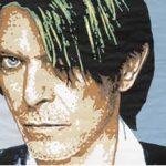Camille Kachani David Bowie Papel Canson recortado 72 x 113 cm, 2005.
