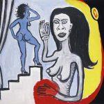 Victor Arruda Striptease Óleo s/ tela 110 x 130 cm, 1999.