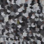 Casa Cubo Negro, Tinta spray sobre tela, 62 x 52 cm, 2011.