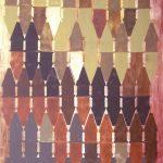 Comunidade Volpiana, tinta spray sobre madeira, 106 x 66 cm, 2011.